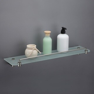 Maykke Benidorm 21-Inch Glass Shelf With Rail