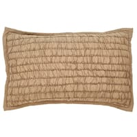 Ruth Taupe Cotton King Sham