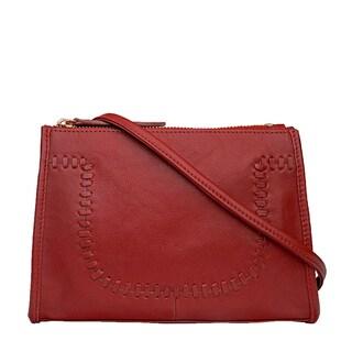 Mina Leather Crossbody Bag