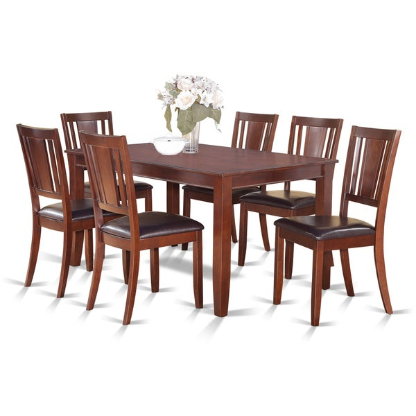 Dinette 7-piece Dining Table and Dining Chairs Set