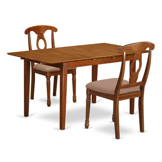 PSNA3-SBR-C 3-Piece Kitchen Table and Two Upholstered Dinette Chairs
