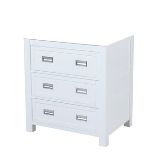 30-inch Burton Vanity in White