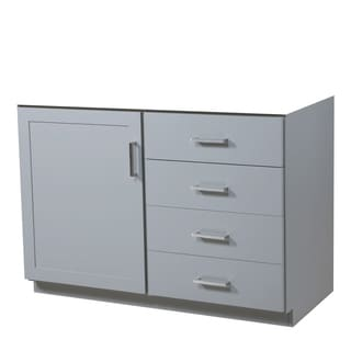 48-inch Sterling Light Grey Vanity Base with Door on Left