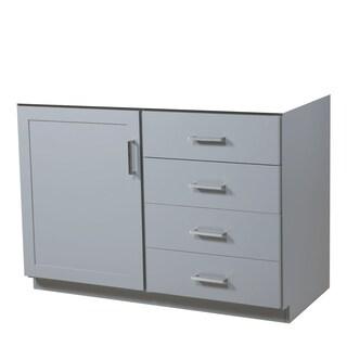 48-inch Sterling Light Grey Vanity Base with Door on Left