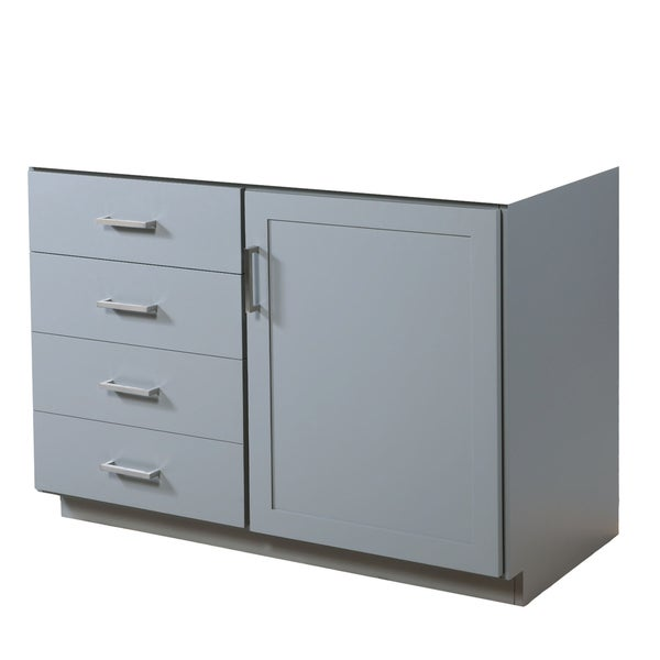 Sterling Light Grey 48-Inch Bathroom Vanity Base Only