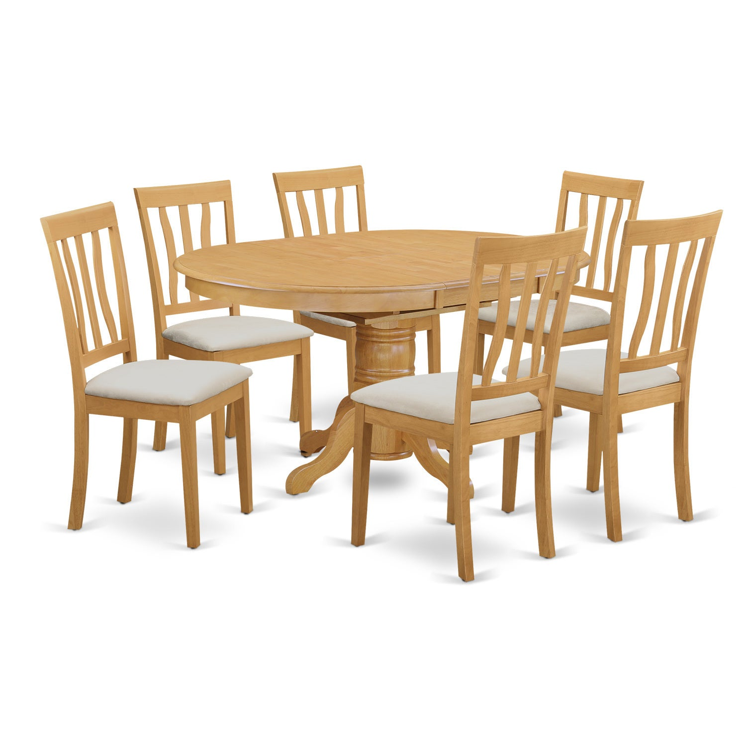 Avat-OAK-C Dining room set - Kitchen dinette table and 4 ...