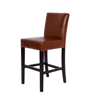 Somette Hazelnut Bonded Leather Barstool Set (set of 3)