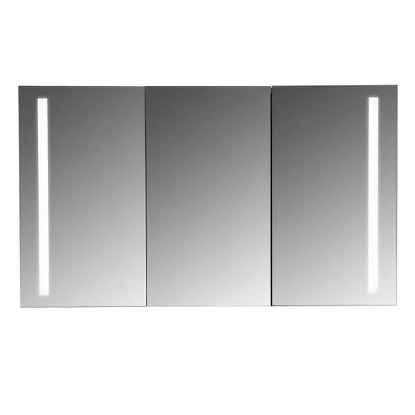 Shop Maykke Emery 48x28 Inch Led Mirrored Medicine Cabinet With 3