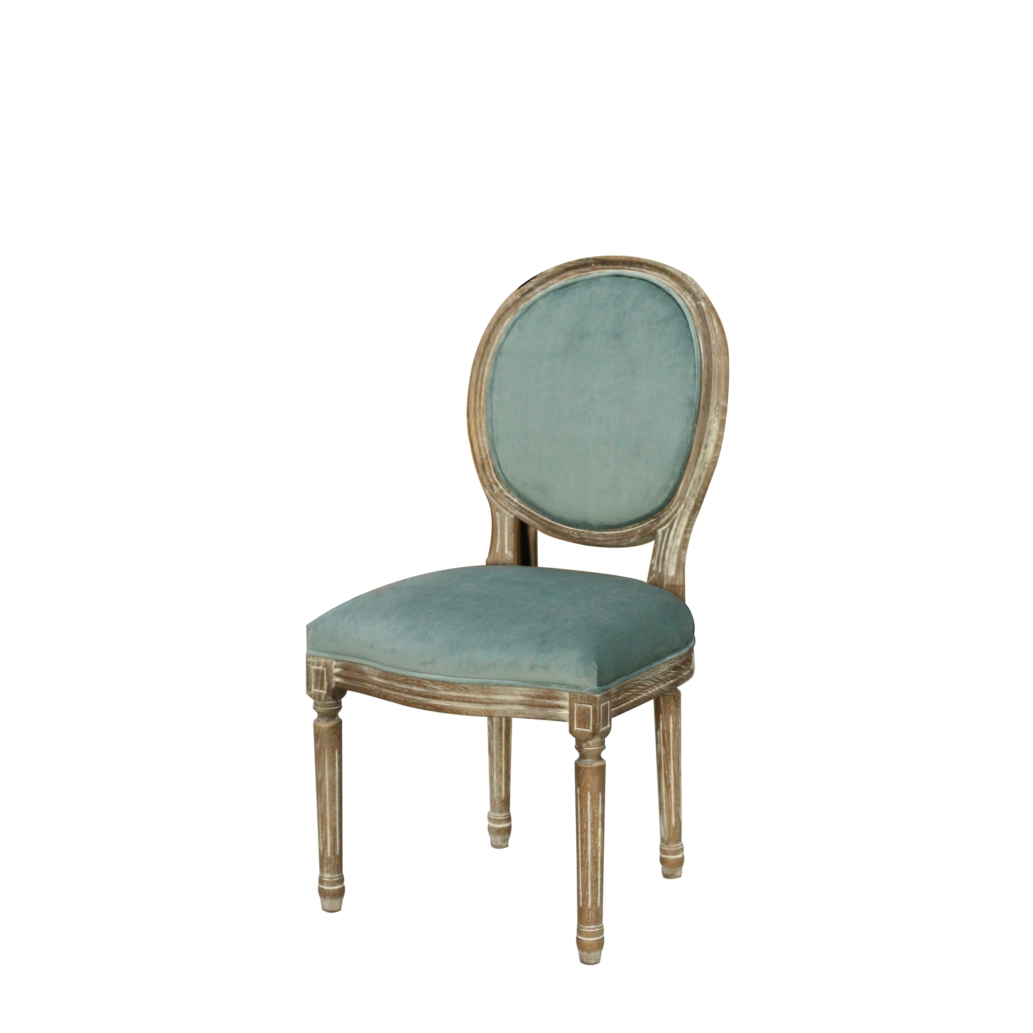 Craft French Louis Ghost Vintage Oval Dining Chair (Peaco...