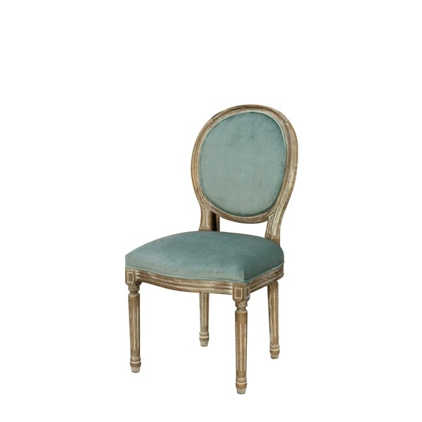 French Louis Ghost Vintage Oval Dining Chair