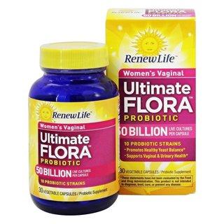 Renew Life Ultimate Flora Vaginal Support 50 Billion (30 Veggie Capsules)