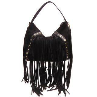 Like Dreams June Faux Suede Fringe Shoulder Handbag
