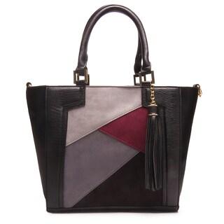 Like Dreams Frida Snakeskin Embossed Vegan Leather Satchel Handbag