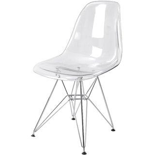 Clear Eiffel Chrome Chair
