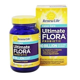 Renew Life Ultimate Flora Colon Care Probiotic 80 Billion (60 Count)