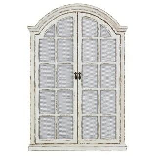 "Emily Window Wall Mirror - Off White - 45""H x 31""W x 2""D (Mirror: 42""H x 27""W)"
