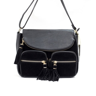 Like Dreams Amber Faux-suede Crossbody Handbag