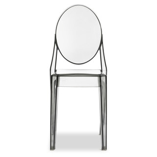 Clear Plastic Arm Chair (Set of 2)