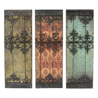 Nadia Metal Wall Plaque (Set of 3)