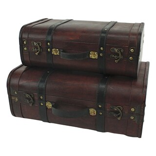 Rothschild Cherry Suitcase Trunks (Set of 2)