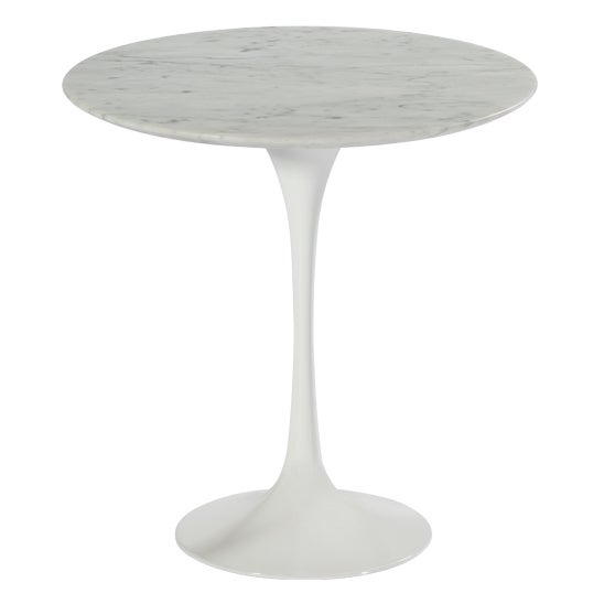 Carrara Marble Tulip Side Table Free Shipping Today 14370179