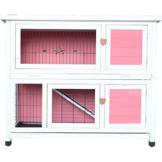 "Lovupet 40"" Wooden Rabbit Hutch"