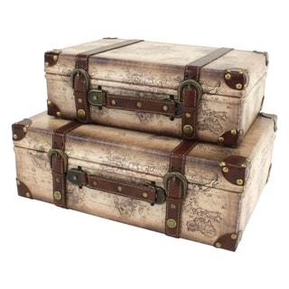 Windsor Suitcase Trunks (Set of 2)
