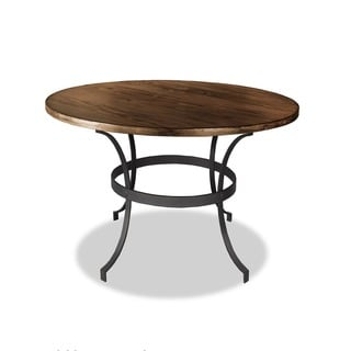 Tahoe Distressed Wood and Iron Round Counter or Bar Height Dining Table