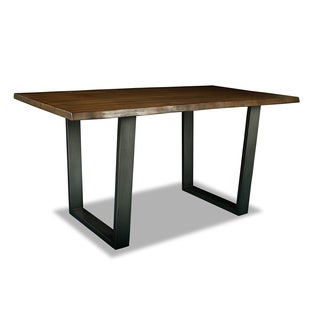 Soho Wrought Iron and Wood Counter or Bar Height Dining Table
