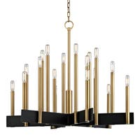 Hudson Valley Abrams 18-light Aged Brass Chandelier