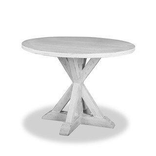 Phillippe Weathered White Wood Counter Height Dining Table