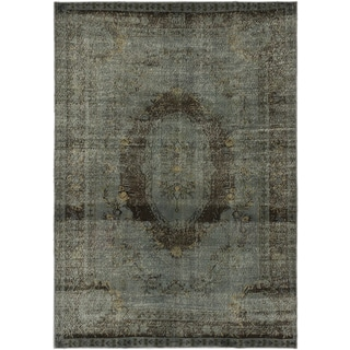 6'7 x 9'5 Vintage Turkish Overdyed Rug