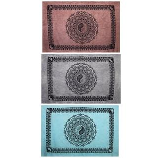Yin Yang Lotus Pond Tapestry (India)