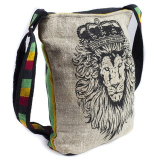 Rasta King Lion Hemp-Blend Crossbody