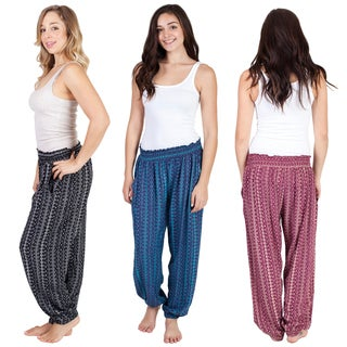 Handmade Women's 'Om' Print Beach Palazzo Pants (Indonesia)