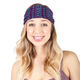 Women's Organic cotton Om Eco Active Yoga Headband (Option: Purple)