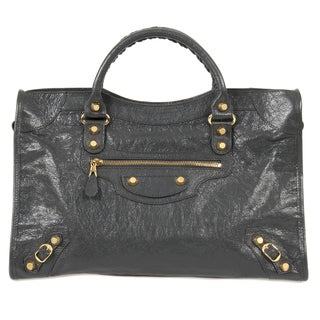 Balenciaga Giant 12 Gold City Medium Fossile Grey w/Gold Hardware Leather Handbag