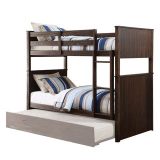 Acme Furniture Hector Bunk Bed, Antique Charcoal Brown