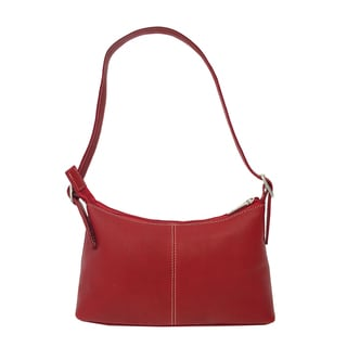 Piel Leather Red Mini Shoulder Bag