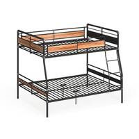 Acme Furniture Brantley II Bunk Bed, Sandy Black & Silver