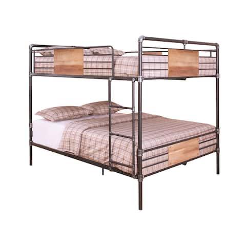 Acme Furniture Brantley Bunk Bed, Sandy Black & Silver