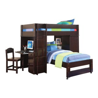 Acme Furniture Lars Loft Bed and Twin Bed, Wenge