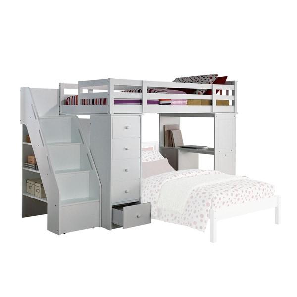 ACME Freya White Loft Bed
