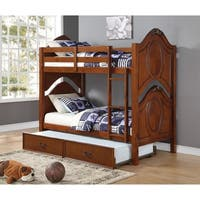 ACME Classique Twin over Twin Bunk Bed, Cherry