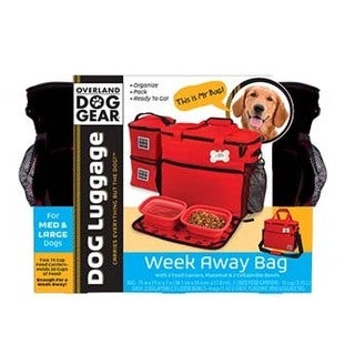 Overland Travelware Dog Gear Week Away Black Medium and Large Dog Bag