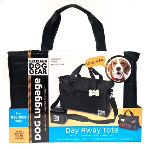 Overland Dog Gear Black Day Away Tote Bag and Carrier