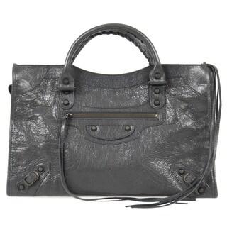 Balenciaga Giant 12 Gold City Medium Fossil Grey w/Brass Hardware Leather Handbag