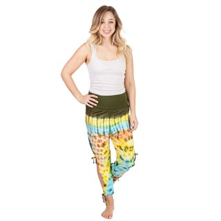 Women's Tie Dye Crop Yoga Pants (Nepal)