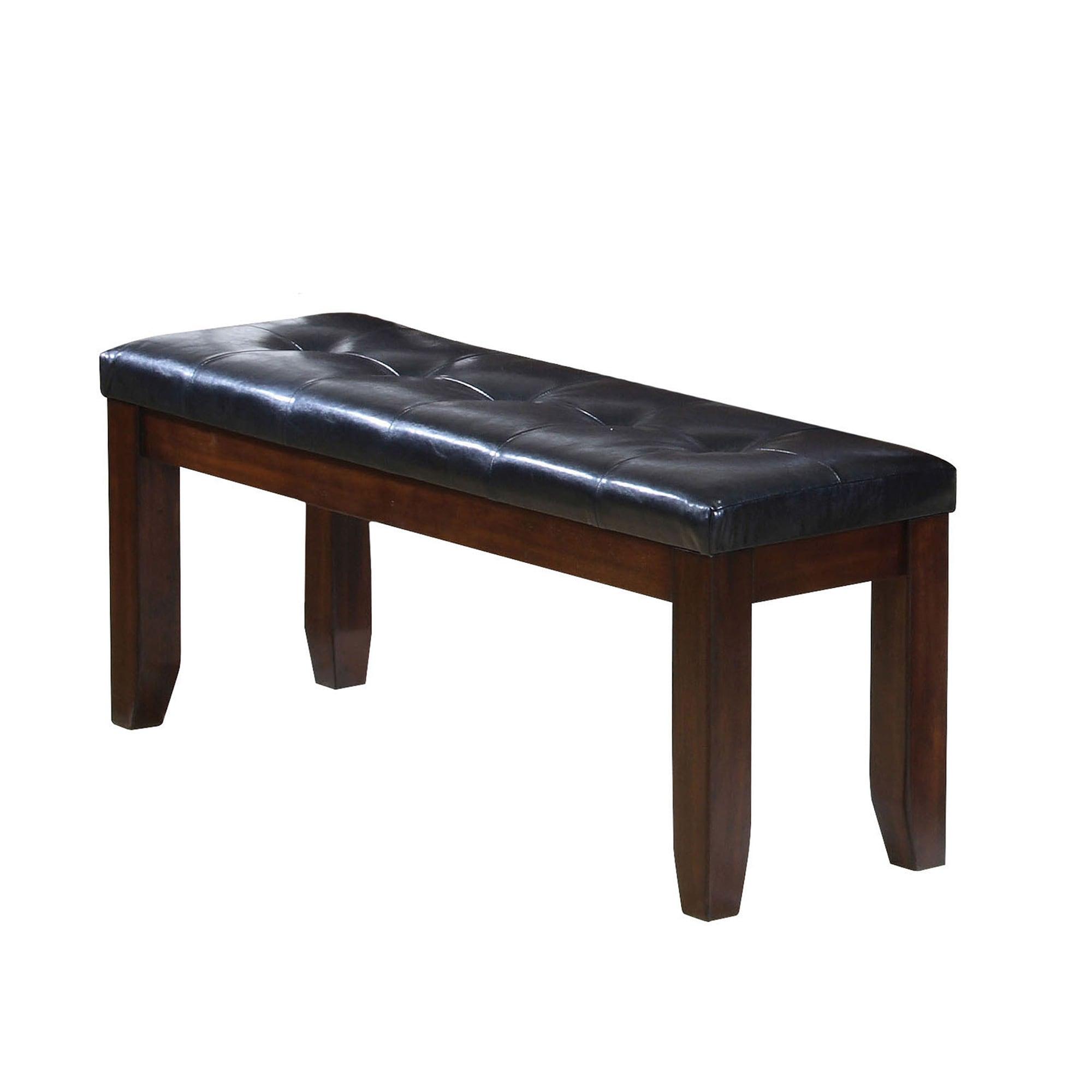 ACME Furniture Espresso Black PU Urbana Dining Bench (Ben.