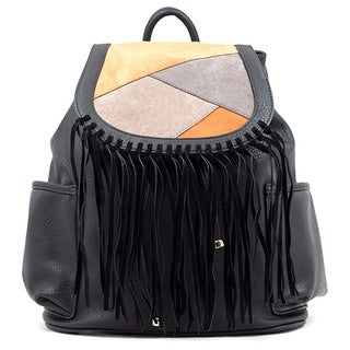Like Dreams Gloria Patchwork Faux Leather Fashion Backpack